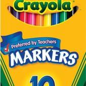 Наборы для творчества, фломастеры, восковые карандаши Crayola