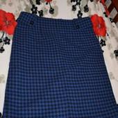 Теплая юбка сине-черная гусинные лапки производство Испания