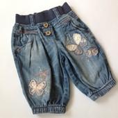 джинсовые бриджи с аппликацией бабочек Next
