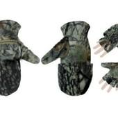 Тактические перчатки-варежки для снайпера,рыбака, охотника