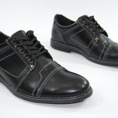 Мужские туфли из натуральной кожи Black