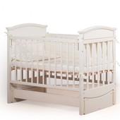 Гарантия 2 года! Кроватка для новорожденных Kiddy цвет №2, укр. производитель
