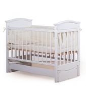 Гарантия 2 года! Кроватка для новорожденных Мишка, цвет белый, укр. производитель