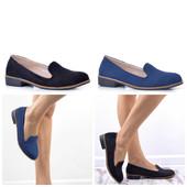 черные и синие замшевые туфли на низком каблуке женские