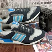 Мужские кроссовки в стиле Adidas zx750 . отличное качество, дизайн и комфорт, Син+сер сетка
