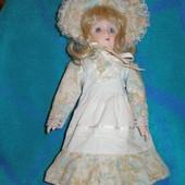 481. Кукла фарфоровая 31см колекционная, винтаж.
