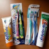 Суперлот для детей и родителей 225 мл зубной пасты+4 щетки(2 на присоске!)Германия Цвет на выбор