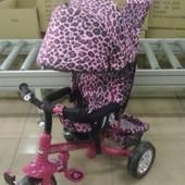Детский трехколесный велосипед Tilly zoo-trike 0005. малиновый