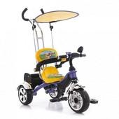 Трехколесный велосипед Bambi М 1688 фиолетово-желтый