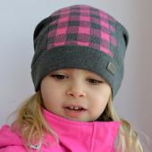 Шапочка,шапка для девочки  девушки. Демисезон хлопок 1 слой. р.50-56 (3-15 лет)