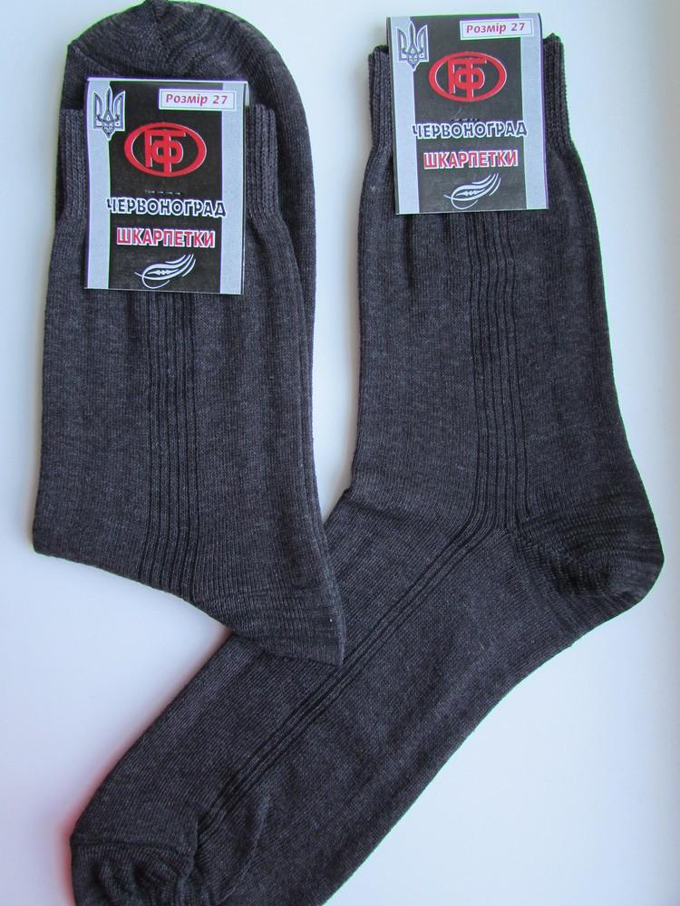 Чоловічі носки, х/б, гладь. фото №1