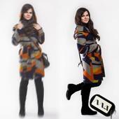Пальто кашемировое  на подкладке в батале