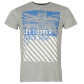Футболка мужская Lee Cooper 1908 Print Tshirt Mens