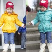 Демисезонная куртка для девочки аналог Войчик желтый, бирюза