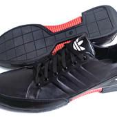 Кроссовки весна № 29 Adidas чёрная кожа