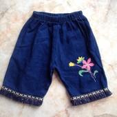 Шортики на девочку с тонкого джинса на возраст примерно 1,5-3 года