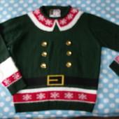 Мужской новогодний свитер р.xl
