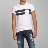 Хлопковая эластичная футболка с серыми вставками