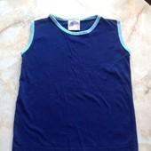 Майка синяя размер 116