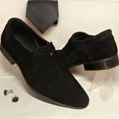 Классические туфли №502 замш