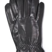 Мужские кожаные перчатки (лайка) на шерсти.