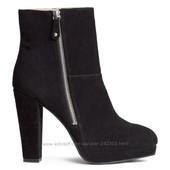 Стильные ботинки H&M замша