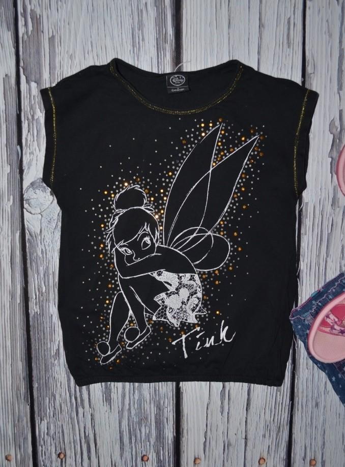 4 - 5 лет 104 - 110 см Обалденная фирменная натуральная футболка футболочка Дисней Тинкербелл фото №2