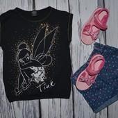 4 - 5 лет 104 - 110 см Обалденная фирменная натуральная футболка футболочка Дисней Тинкербелл