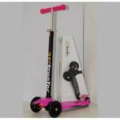 Самокат детский трехколесный SKL-07-100A, розовый