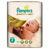 Подгузники Pampers Premium Care 2 (3-6 кг)  72 шт.Польша