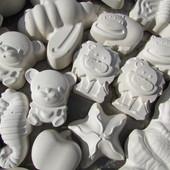 3Д раскраски! Гипсовые фигурки для детского творчества. Дети в восторге! Набор = 12 фигур