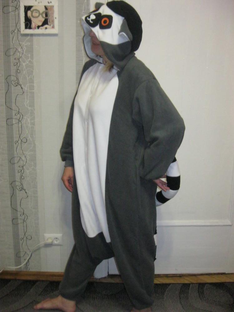 d1748021665e Кошка шиншилла лемур слип кигуруми пижама футужама, цена 300 грн ...