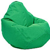 Зеленое кресло-груша 100х75 см из микророгожки