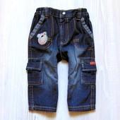 Стиляжные джинсы для мальчика. George. Размер 6-9 месяцев. Состояние: идеальное.