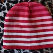 Демисезонная шапка для девочки на 3 - 5 лет