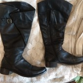кожаные сапоги  Италия 26см