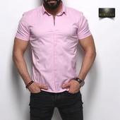 Короткий рукав!Огромный выбор мужских рубашек