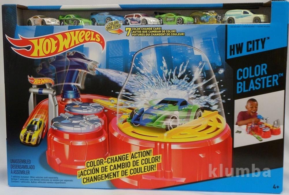 Hot wheels автомойка+7авто-измени цвет! фото №1