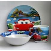 Набор посуды для мальчика Тачки