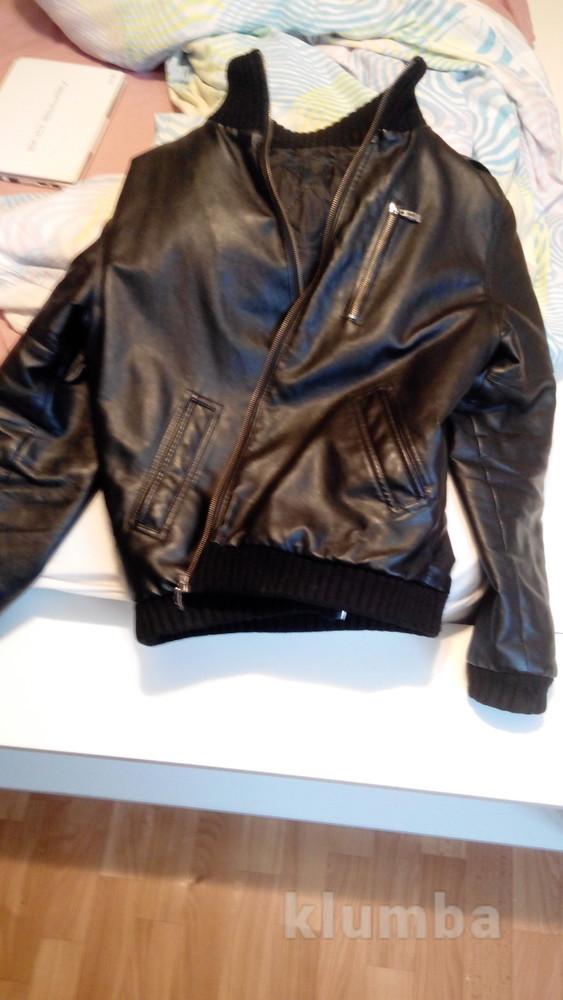 куртка мужская кожзам.48 фото №1