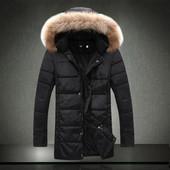 Мужская куртка с меховым капюшоном,m ,l ,xl.Чёрная и хаки. (2с