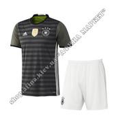 Футбольная форма для детей сборной Германии на Евро-2016 Adidas выездная (1842)