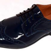 стильные мужские туфли лак,кожа.замша цвета Код: 257\3 brogg