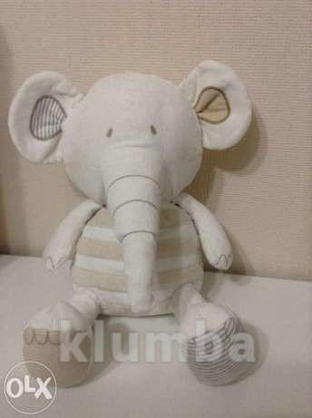 Мягкая игрушка-слоник от известной фирмы marks and spenser фото №1