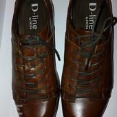мужские туфли оксфорды 27,5 стелька