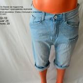 Классные стильные джинсовые шорты, капри, бриджи подростку, не крупному мужчине. отличное состояние