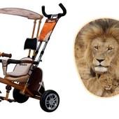 Доставка! Трехколесный велосипед, колеса пена, аzimut вс-15 An Safari оранжевый Лев, 00000123309