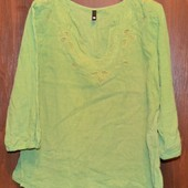 Блузка, кофта хлопок с вышивкой р. 48