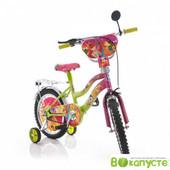 Доставка!Гарантия!велосипед Mustang Winx,колеса 14 дюймов, розово-салатовый, 00000115236