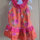 Фирменное платье-сарафан Zerbit-3-4 года-100% coton